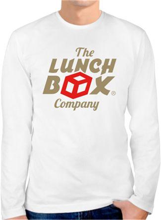 Lunch Box Logo Kendin Tasarla - Erkek Bisiklet Yaka Tişört Uzun Kollu