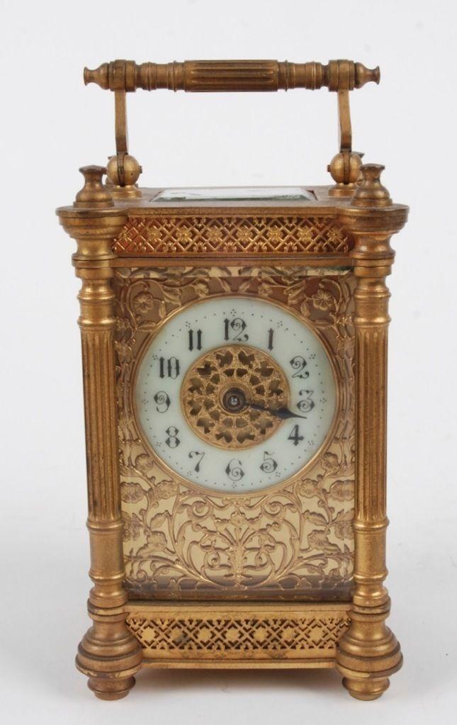Antique French Brass Ormolu Carriage Clock   eBay