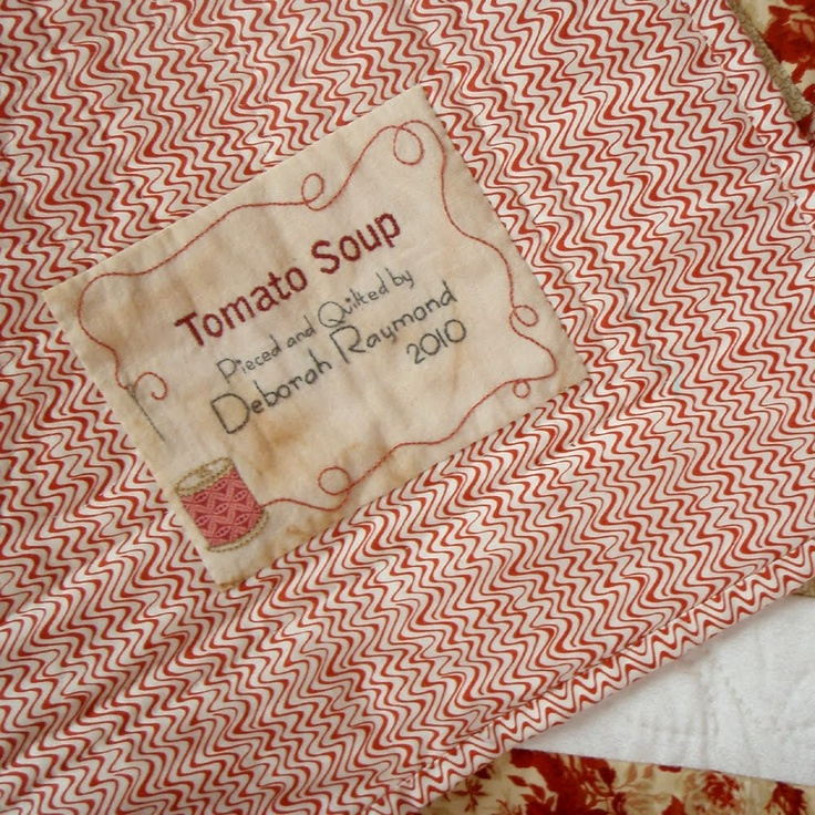 124 best Quilting - labels images on Pinterest | Embroidery, Tags ... : quilting signature tags - Adamdwight.com