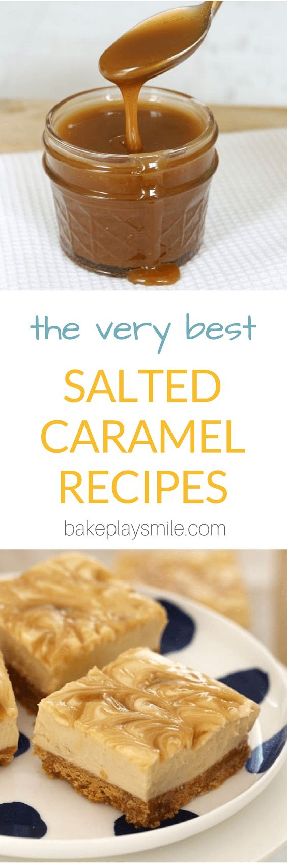 The ultimate collection of the VERY BEST SALTED CARAMEL RECIPES!! With everything from cheesecake to mud cake, brownies to slices, homemade sauce and frosting… YUM!  #salted #caramel #best #recipes #easy #thermomix #conventional #yum