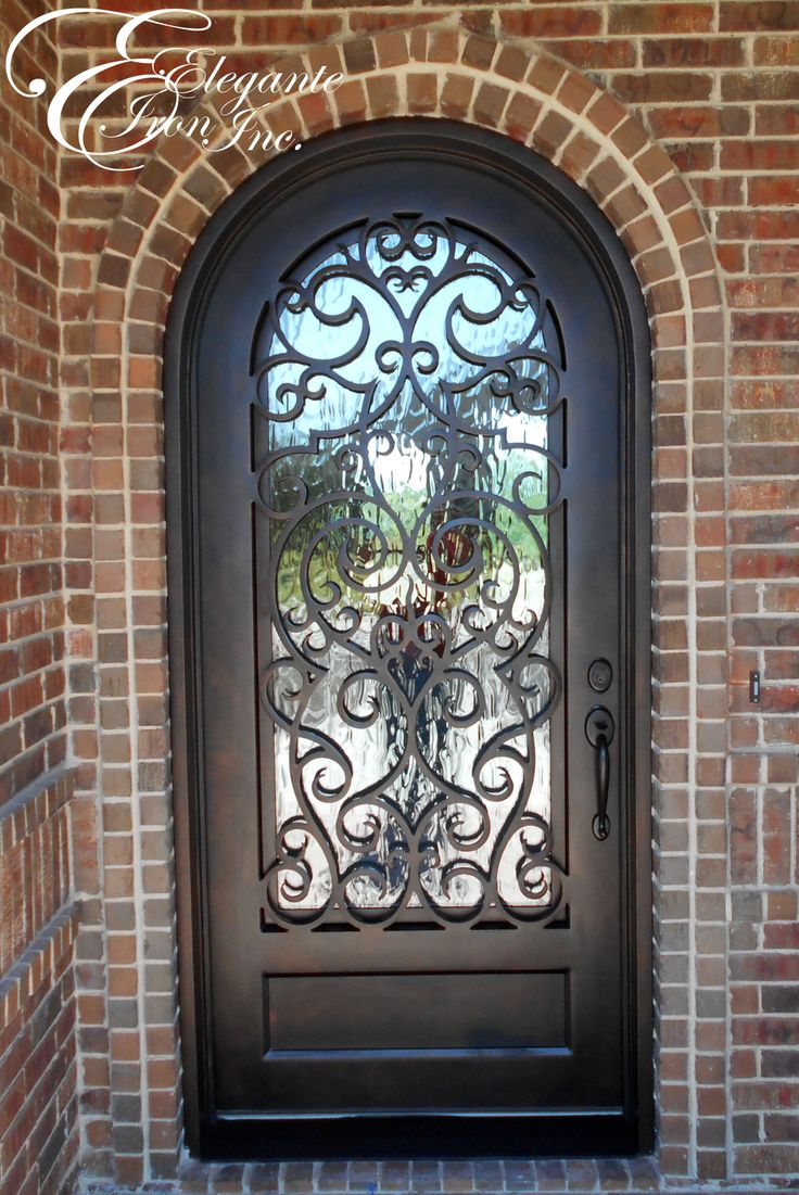 Custom Wrought Iron Front Door Single Doors Pinterest