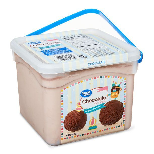 Great Value Chocolate Ice Cream 1 Gallon Pail Walmart Com In 2020 Chocolate Ice Cream Homemade Milkshake Ice Cream
