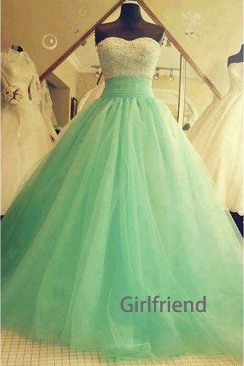 Girlfriend Prom Dress · Sweetheart slim tulle floor-length prom dress / evening dress · Girls Prom Dresses on Storenvy