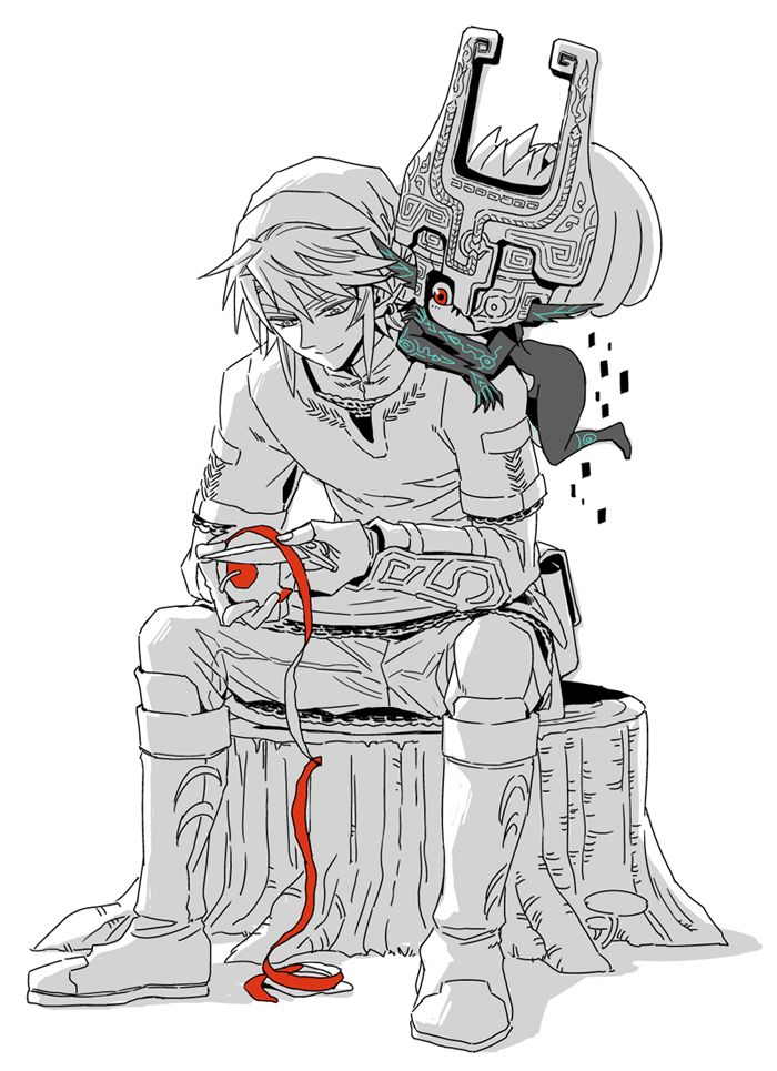 Link and midna gif