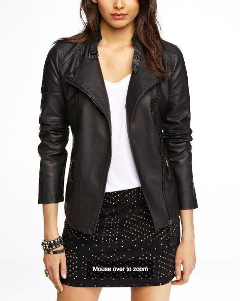 Express - (Minus the) Leather Buckled Motto Jacket - 5% Cash Back #ebatesfallfashion