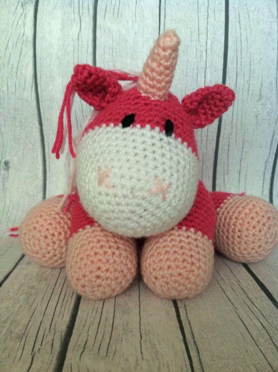 Crochet amigurumi unicorn stuffed animal- made to order in ...