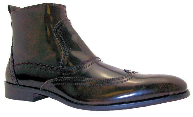 Gucinari Mb933-801 Men's Dark Brown Wingtip Brogue Dealer Boots New  | eBay