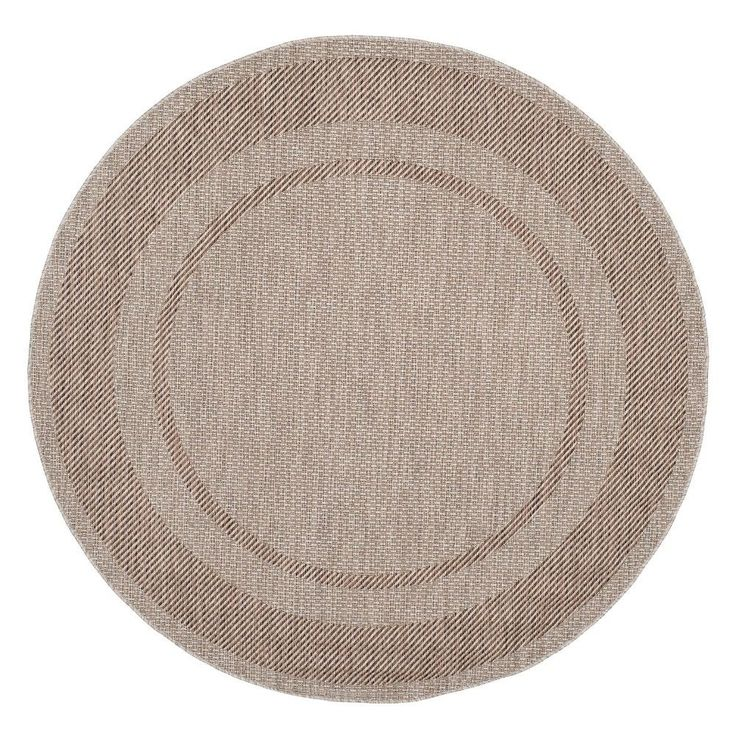 "Tournefeuille Rectangle 6'7""X9'6"" Outdoor Patio Rug - Beige / Brown - Safavieh"