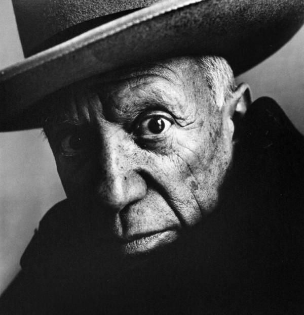 #friends! Pablo Picasso, 1957. Photograph by Irving Penn.