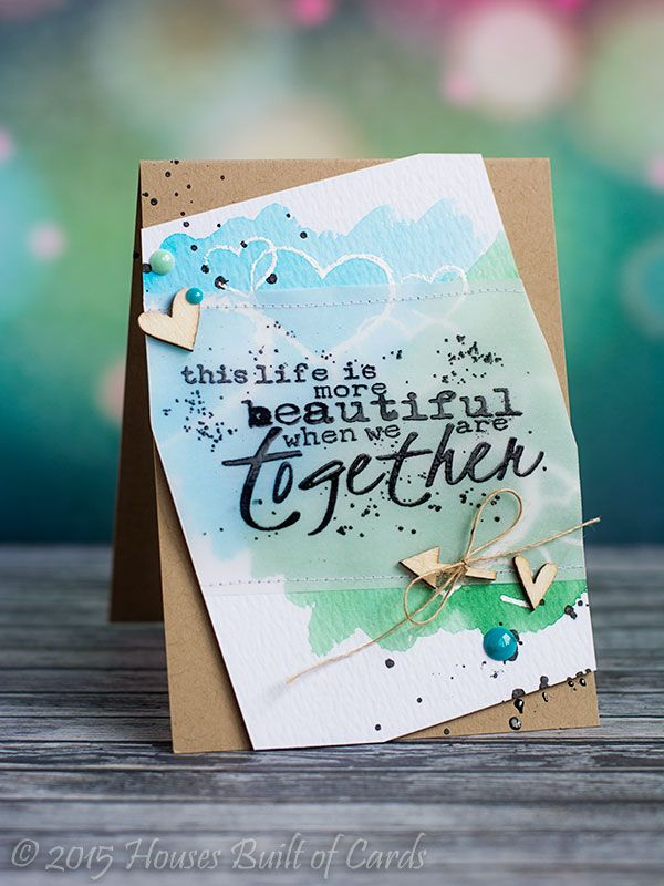 Life is more beautiful together watercolor card by Heather