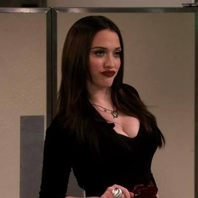 """Technically a """"suck it"""" face rather than a bitchface, but any excuse to pin Kat Dennings."""
