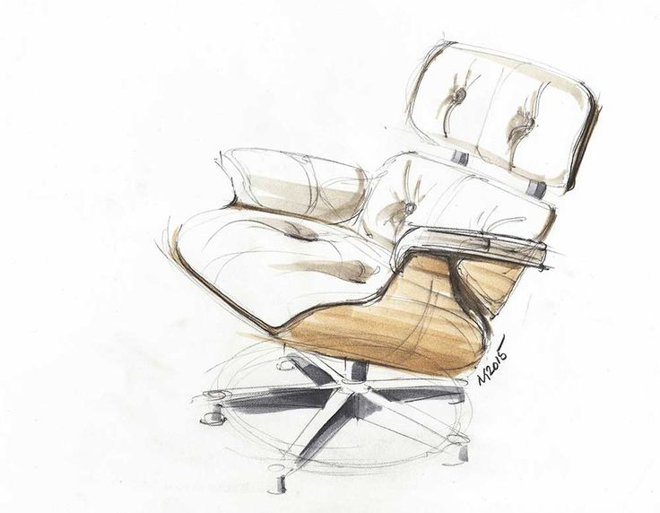 1282 best sketches digital analog images on pinterest for Bauhaus eames chair