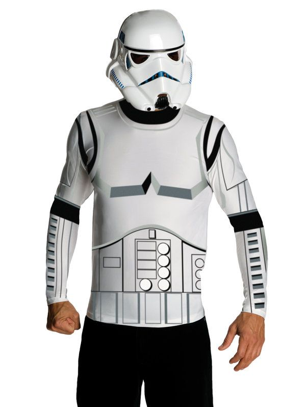 Check out Men's Mens Stormtrooper Top and Mask Set | Costume SuperCenter On Sale from Costume Super Center