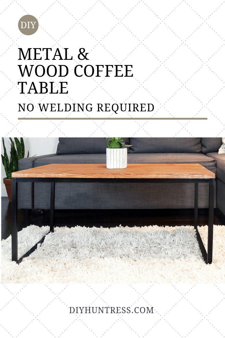 Diy Metal Wood Coffee Table No Welding Diy Huntress Metal Wood Coffee Table Coffee Table Wood Coffee Table [ 1102 x 735 Pixel ]