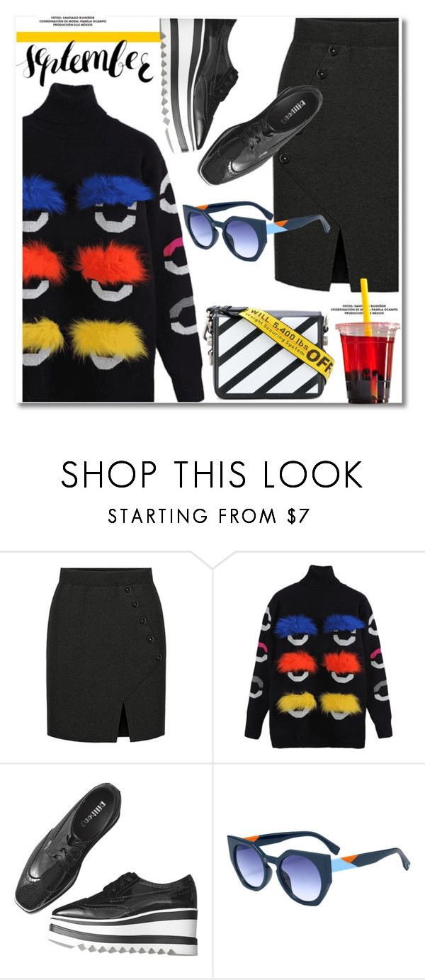 """""""Wow Factor: Faux Fur"""" by paculi ❤ liked on Polyvore featuring Off-White and fauxfur"""