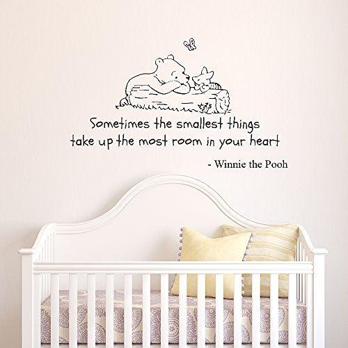 V&C Designs Winnie the Pooh Sometimes the Smallest Things Quote Children's Bedroom Kids Room Playroom Nursery Wall Sticker Wall Art Vinyl Wall Decal Wall Mural *Photo Updated December 2014* V&C Designs Ltd http://www.amazon.co.uk/dp/B00BMOJYUK/ref=cm_sw_r_pi_dp_2m5jwb19D0G21