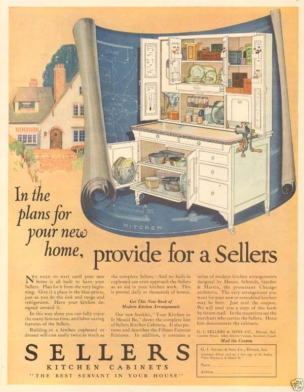 Sellers Kitchen Cabinets Vintage 14 best hoosier & hoosier style cabinet ads images on pinterest