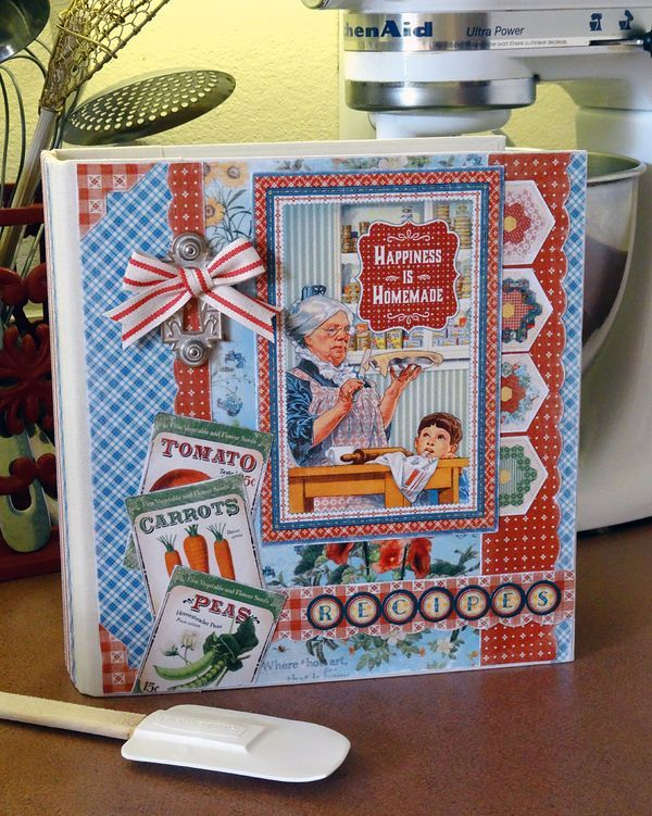Home-Sweet-Home-Recipe-Book-Graphic-45-Annette-Green-23-of-28:  Includes tutorial.  Must make this gorgeous project!