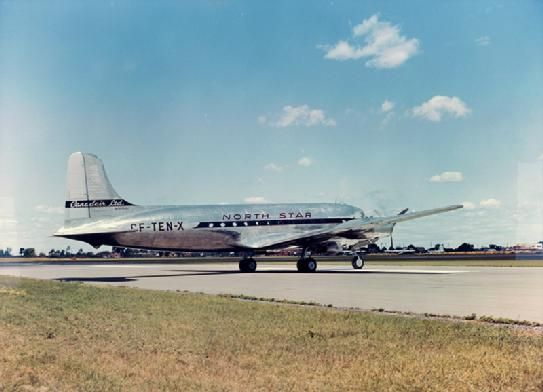 July 15, 1946 - Maiden flight of the North Star built by Canadair.
