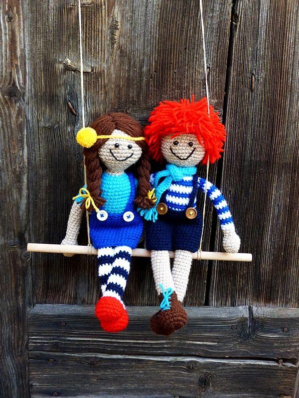 Pitypang és Berkenye #horgolt #crochet #baba #doll