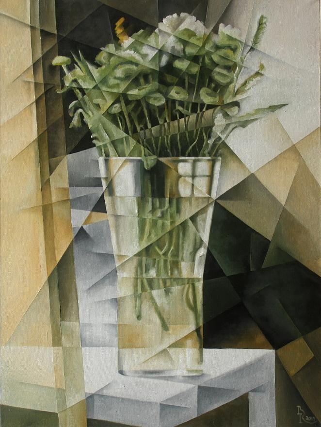 Bouquet. Cubo-futurism. Krotkov Vassily. 2013