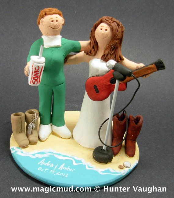 Gay Women's Wedding Cake Topper, Wedding Cake Topper for Two Women, lesbian marriage figurine  Customized same sex lesbian wedding cake toppers, these were commissioned for gay brides marriages and wedding ceremonies involving two women.... be inspired by these examples and let us know what details would make the most memorable Lesbian wedding keepsake for you and yours!    $235   #magicmud   1 800 231 9814   www.magicmud.com