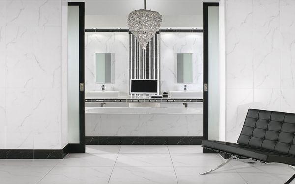 Carrelage fa ence effet marbre new tradition de villeroy for Carrelage effet miroir