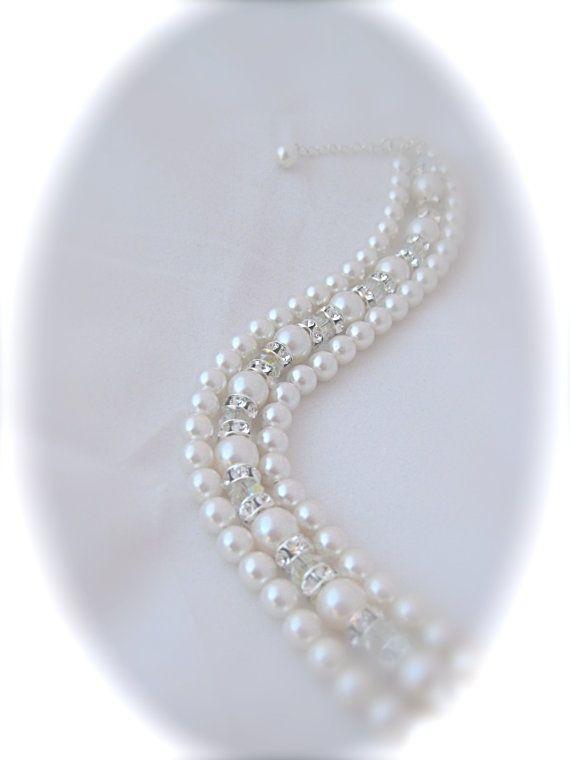 Bridal Jewelry Bridal Bracelet Wedding by Clairesparklesbridal, $45.00