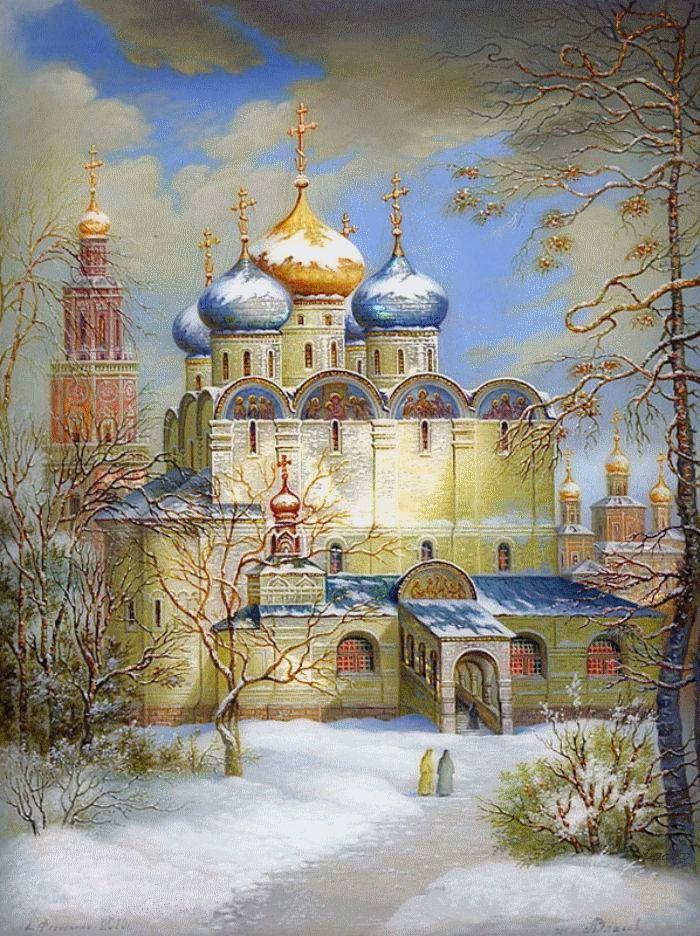 Fedoskino painting. Федоскинская миниатюра.