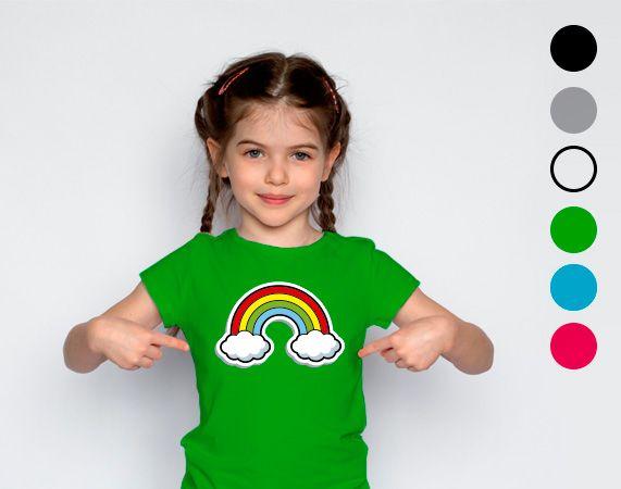 Camiseta infantil de algodón personalizada con tu foto, imagen o texto.