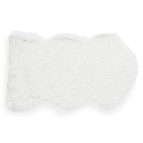Sheepskin Rug Short Pile: Faux Fur Rug, White, 60 X 100 Cm