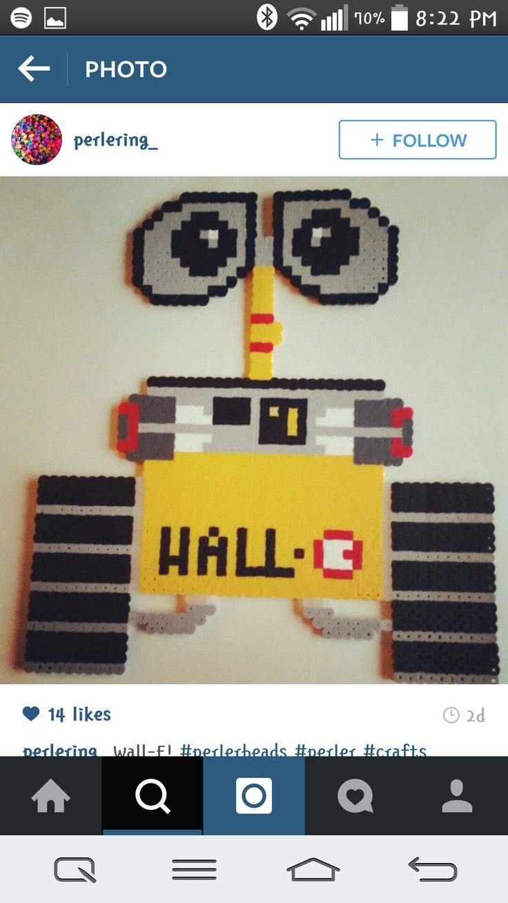 25 best wall e images on pinterest wall e disney magic and wall e perler beads by perlering