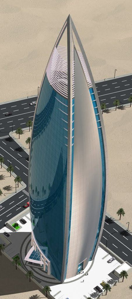 Woqod Tower, Doha, Qatar by United Arab Consulting Architects :: 32 floors, height 172m ☮k☮ #architecture