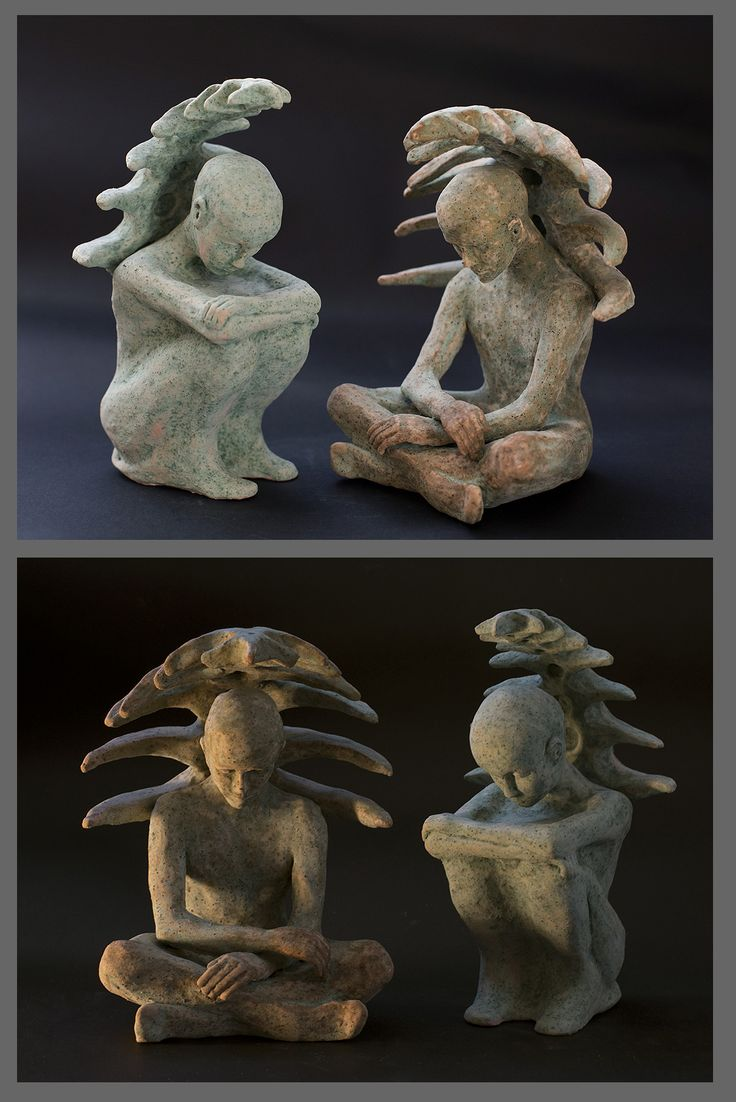 Sylwia Łabaj - ceramic sculptures, figures, height about 20cm
