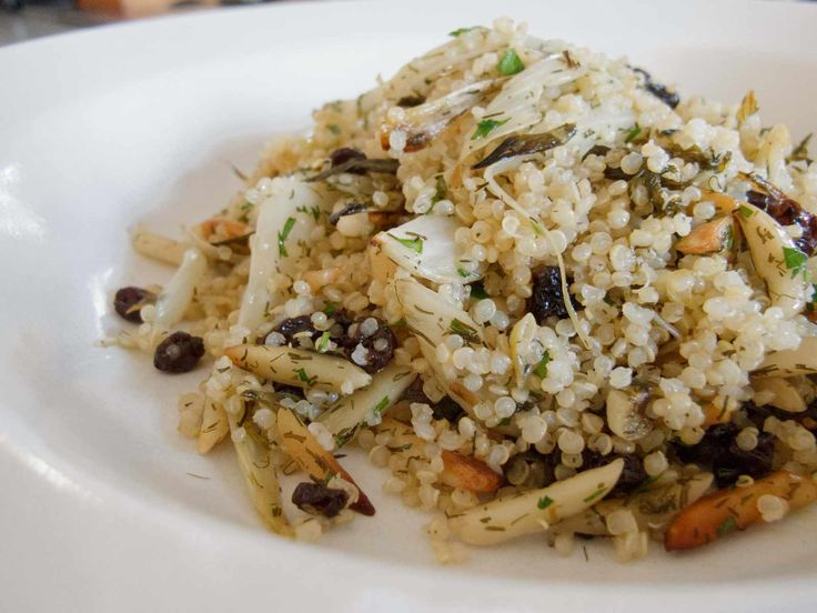 Quinoa with roasted fennel, currants, and dill Source: Valleybrink ...
