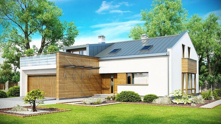 Projekt domu SZ5 Zx36 - DOM OZ5-37 - gotowy projekt domu