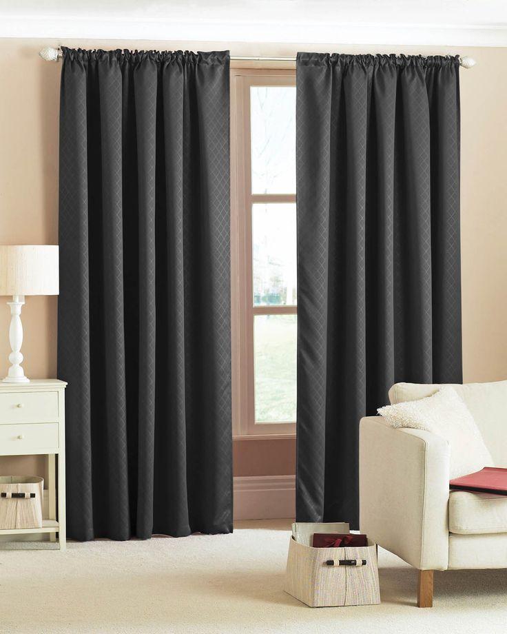 Black Pencil Pleat Curtains   Range of Black Pencil Pleat Curtains ...