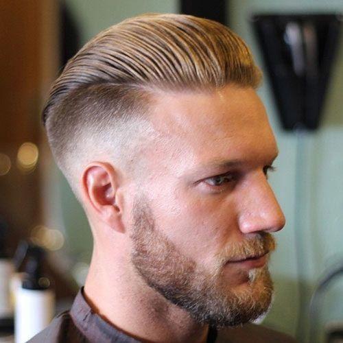 Slick Back Hair With Low Fade And Beard Undercut Fade Haircuts Dapper Haircut Haircuts For Men Mens Hairstyles Undercut