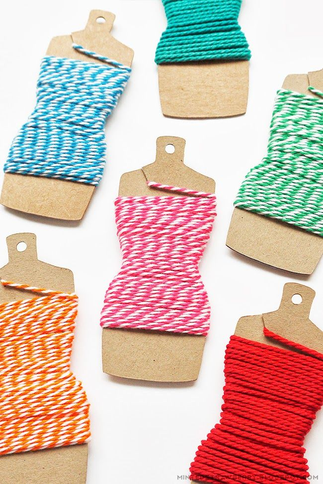 DIY Dressform Embroidery Thread Holder Tutorial with FREE Template - by Minted Strawberry