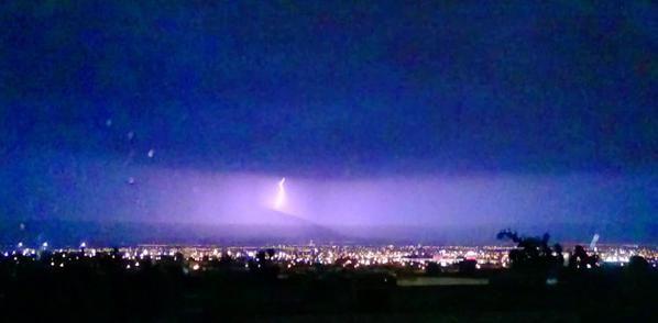 Tormenta eléctrica en Monterrey, 24 mayo 2015