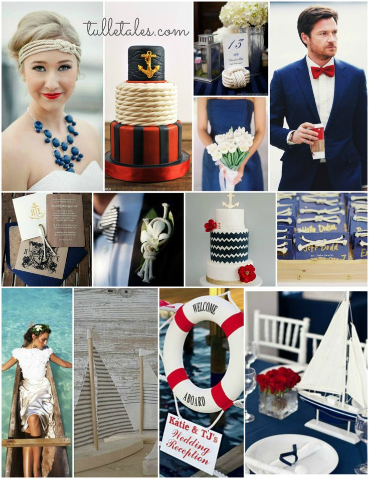 Nautical Wedding Theme // the blue tux is outstanding!!!