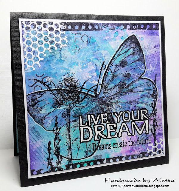 """Handmade by Aletta: Art Journey challenge 76 """"resist"""""""