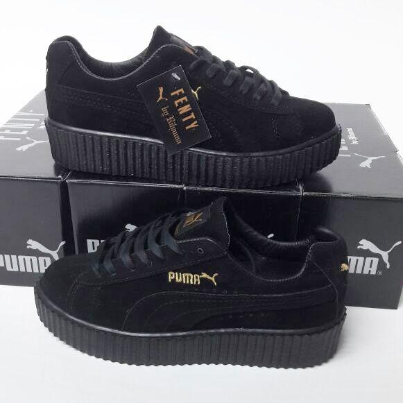 Puma Fenty Siyah Renk Siyah Taban Bayan Spor Ayakkabı WhatsApp Bilgi Hattı ve Sipariş : 0 (541) 2244 541 www.renkliayaklar...