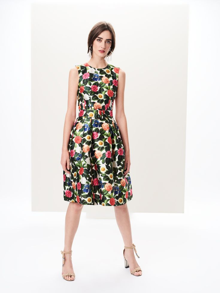 Flower Jungle Mikado Dress - Ready to Wear – Oscar de la Renta