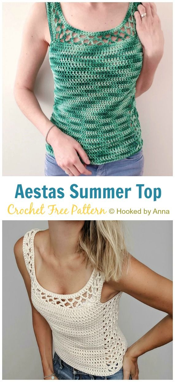 Aestas Summer Top Crochet Free Pattern