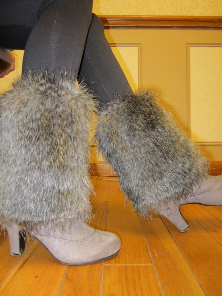 My furry boot toppers