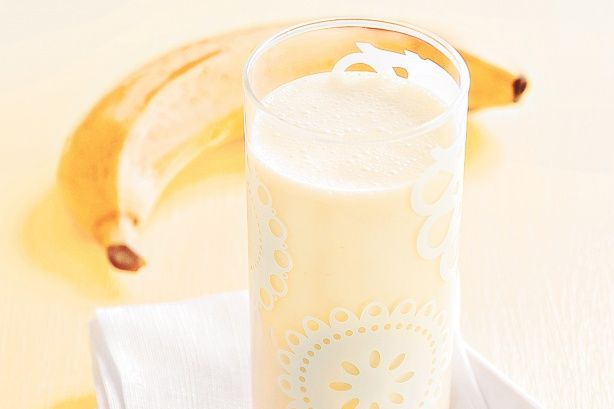 Nothing is better on a hot summer's day than this tropical banana ice-cream smoothie.