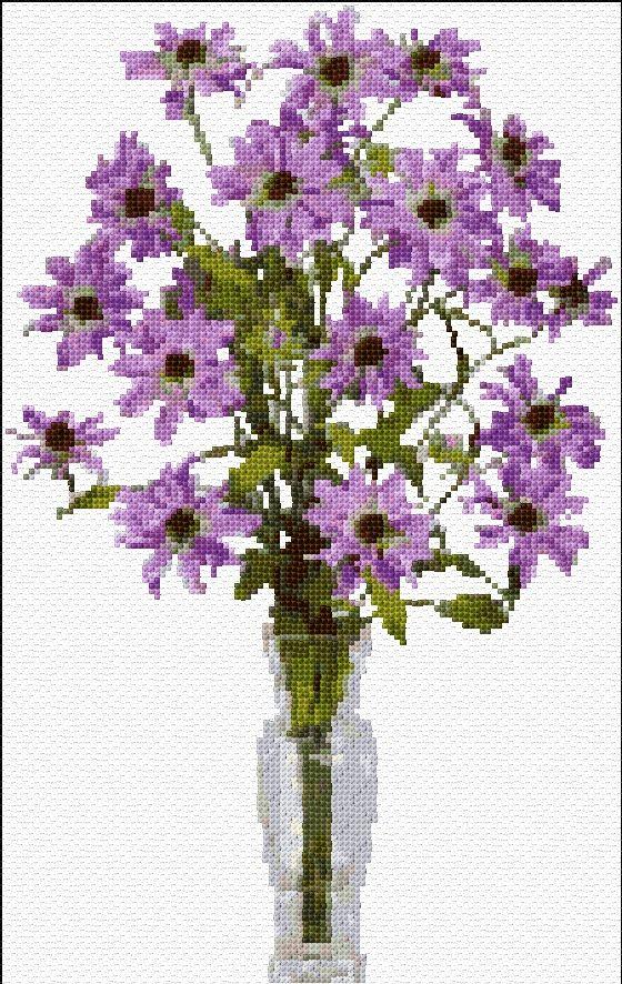 Cross Stitch | Flowers xstitch Chart | Design