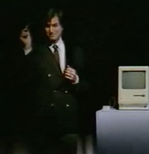 The Very First 'Stevenote' - January 30, 1984, Steve Jobs came to Boston to introduce his groundbreaking new computer to members of the world's largest personal computer organization