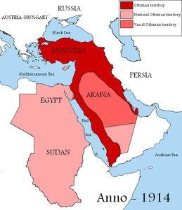 O Império Otomano em 1914